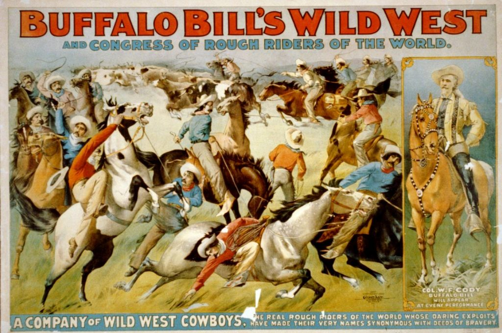 affiche Buffalo Bill's Wild West Show en 1899