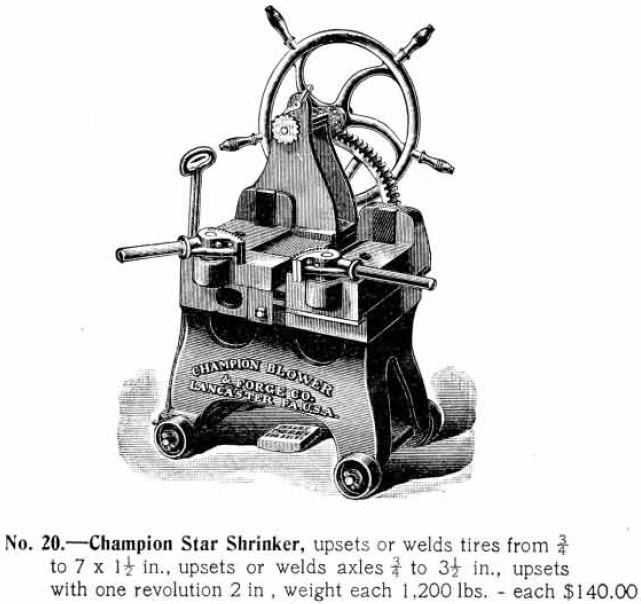 ancienne publicité champion blower and forge number one
