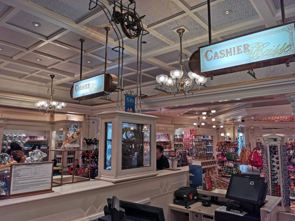 Cashier at Emporium in Disneyland Paris